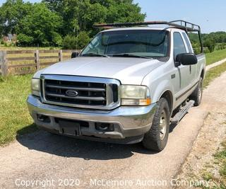 2004 Ford F-250 SD with 5.4L V8 SOHC 16V Engine VIN: 1FTNX20L44EA83044