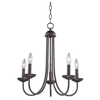 "Thomas Lighting Williamsport 5-Light 20"" Oil Rubbed Bronze Chandelier Ceiling Light"