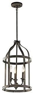 Kichler Steeplechase 3-Light Foyer Pendant, Olde Bronze Finish