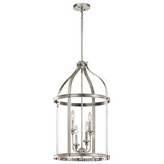 Kichler Steeplechase 4 Light 17 inch Classic Pewter Chandelier Ceiling Light