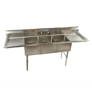 Klinger's Trading Inc. Stainless Steel Three Compartment Sink