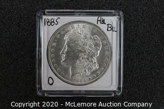 Morgan Silver Dollar AU/BU Graded 1885-O