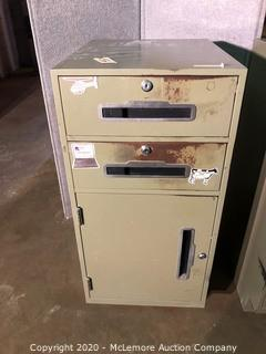 Fenco  Metal Security/Teller Cabinet with 2 Drawers and Lower Cabinet