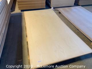 "6 Sheets Ash Plywood 5-1/8"" 1-3/4"""