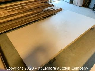 "4 Sheets 5/8"" Mixed Birch and Maple Plywood Unfinished"