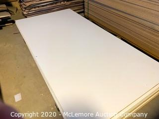 "14 Sheets White MDF Mixed 1/2"" and 3/4"""