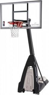 "Spalding NBA 60"" Glass Portable Basketball Hoop"