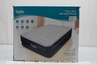 Sable Air Mattresses Full Size Inflatable Airbed, Blow up Bed with Built-in Electric Pump and Storage Bag, Height 20