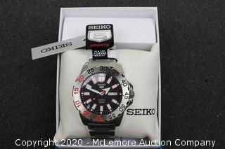 SEIKO Series 5 Automatic Black Dial Stainless Steel Men's Watch
