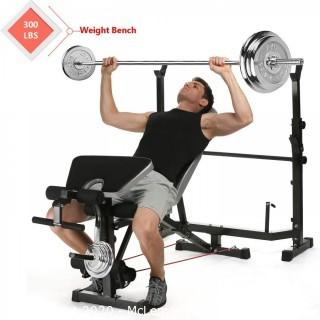 Tomasar Olympic Weight Bench with Preacher Curl, Leg Developer, Multi-Functional Weight Bench Set for Indoor Exercise