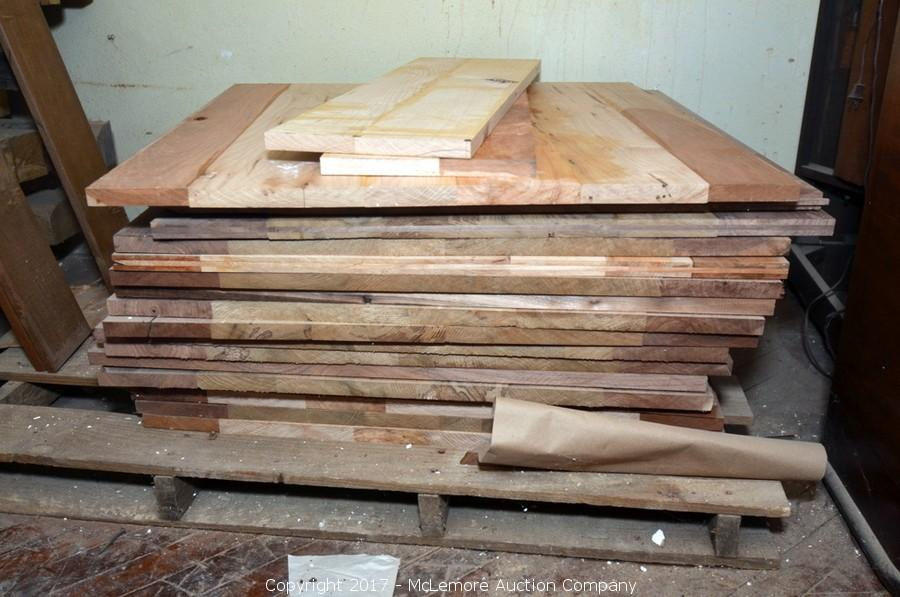 McLemore Auction Company Auction Surplus Equipment Tools Lumber - Custom restaurant table tops