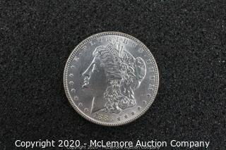 Morgan Silver Dollar 1886 AU/BU Graded