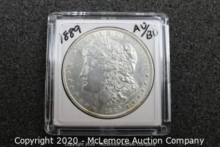 Morgan Silver Dollar 1889 AU/BU Graded