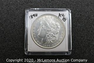 Morgan Silver Dollar 1896 AU/BU Graded