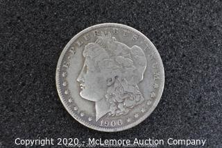 Morgan Silver Dollar 1900 AU/BU Graded