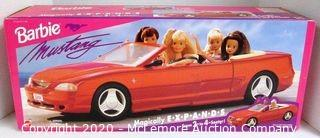 Barbie Ford Mustang Convertible Magically EXPANDS From 2-to-4 Seater!