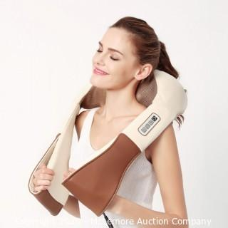 Tekjoy Kneading Massage Pillow - Shiatsu Massage Pad for Back, Neck and Feet with Direction, Strength and Heat Options - Great at Home or in the Office