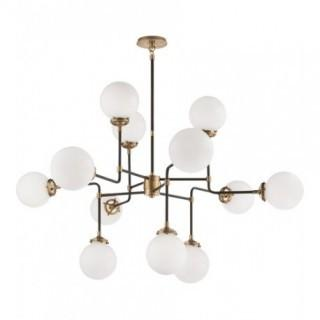 Visual Comfort & Co. S5022HAB-WG Ian K. Fowler Collection Bistro 12-Light Chandelier, Hand-Rubbed Antique Brass Finish