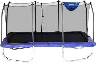 Skywalker Trampolines - Rectangle Jump-N-Dunk Trampoline with Enclosure