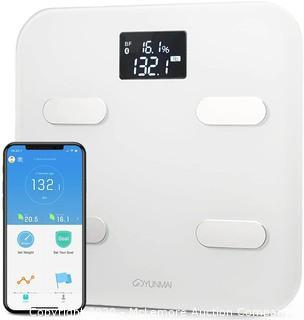 Yunmai Bluetooth 4.0 Smart Scale and Body Fat Monitor, White