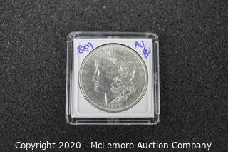 Morgan Silver Dollar 1889 AU/BU