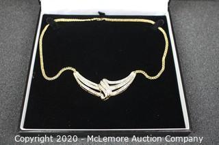 14kt Over Brass .50ct Diamond Necklace