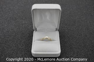 14kt Gold Engagement Ring (SIZE - 7 1/2)