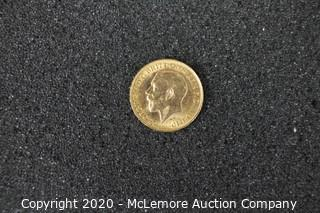 1912 Gold Sovereign - King George V-P