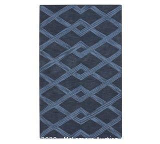 Chase Textured Hand Tufted Wool Rug, 10 x 14', Indigo