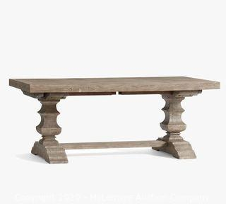 """Banks Extending Dining Table - Gray Wash,  92"""" - 128"""" L"""