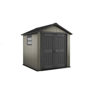Keter Oakland 7.5 ft. x 7 ft. Plastic Outdoor Storage Shed