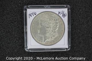 Morgan Silver Dollar 1896 AU/BU Graded