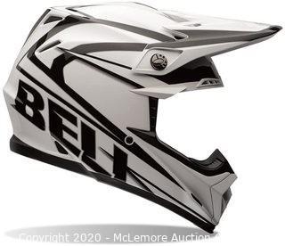 Bell Powersports Moto-9 Tracker Motocross Helmets-Black/White - Medium