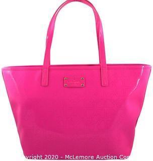 Kate Spade Small Harmony Metro Wkru1878 Pink Sapphire Faux Leather Tote
