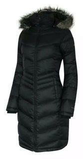 Columbia Womens Black Polar Freeze 650 Down Long Winter Jacket XL