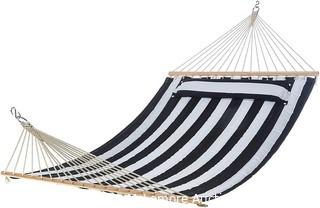 Pillow Top Hammock, Blue and White