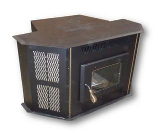 AMAIZABLAZE CORN STOVE - MODEL 4100 - UP TO 50,000 BTU'S - DIRECT VENT - FIREPLACE INSERT OR FREESTANDING WITH HORIZONTAL CAP