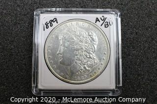 1889 Morgan Silver Dollar AU/BU Graded