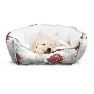 Friendly Monsters Round Pet Bed, Premium Micro Suede Design with Plush Fill, Medium/Small Size Dogs, Durable Fabric, Comfortable Pet Bedding