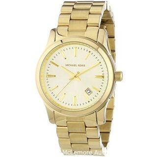 Michael Kors Women's MK5160 Runway Gold Tone Dial Yellow Gold Steel Bracelet Watch
