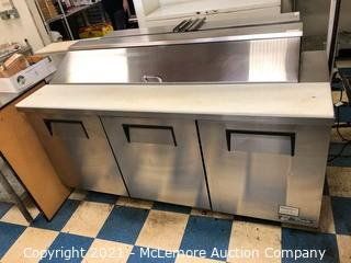 True Stainless Refrigerated Prep Table on Casters