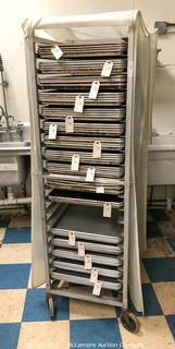 Commercial Sheet Pan Cooling Rack on Casters with Cover (Pans Not Included)