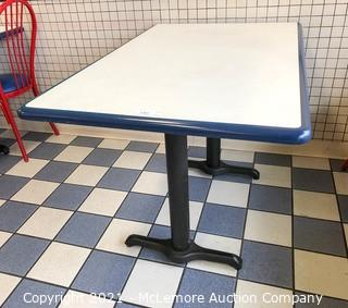 Restaurant Dining Table with Metal Base