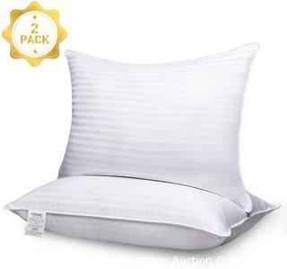 Adoric Pillows for Sleeping, King Size Premium Hotel Bed Pillows, Breathable Gel-Fiber Down Alternative Cooling Pillow Good for Side and Back Sleeper 20 x 36 White-2 Pack