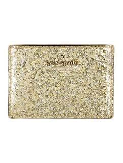 Kate Spade New York Gold Glitter Patent Leather Cardholder