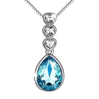Pealrich Angel Tear Fashion Jewelry Pendant Love Necklace with Swarovski Crystal