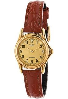 Casio Ladies Gold Analogue Dress Watch Leather Band