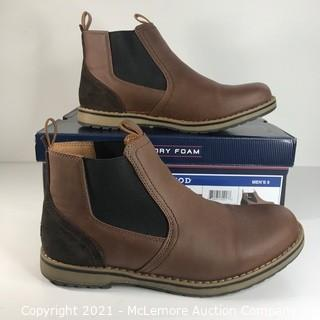 Izod Men's Pull-On Lucas Chukka Boot, Size 9, Brown (MSRP $65)