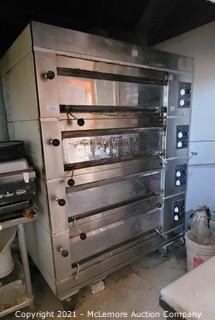 Adamatic Four Deck Gas Commercial Pizza Oven
