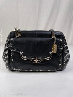 Coach 27841 Madison Madeline Satchel in Two Tone Python Embossed - NEW WITHOUT TAGS